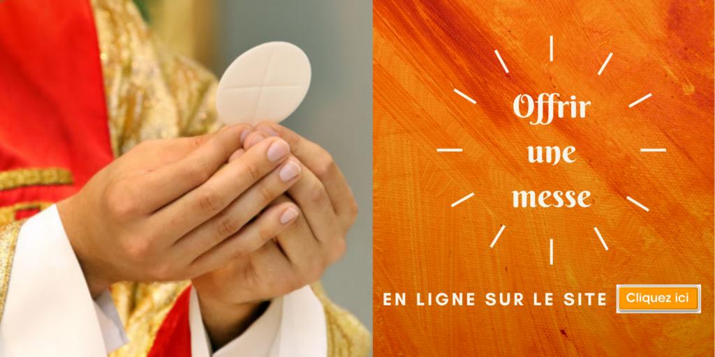 Demander une intention de messe en ligne